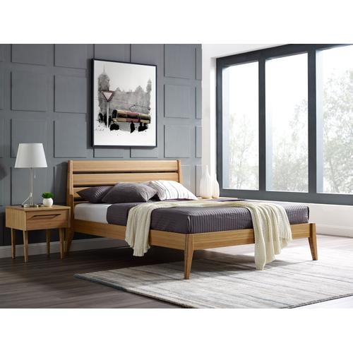 Sienna Queen Platform Bed, Caramelized