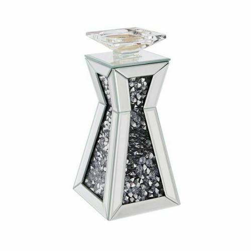 ACME Nowles Accent Candleholder (Set-2) - 97617 - Mirrored & Faux Stones