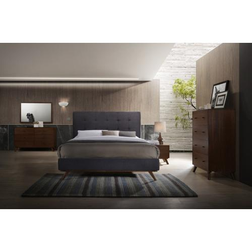VIG Furniture - Modrest Addison Mid-Century Modern Grey & Walnut Bedroom Set