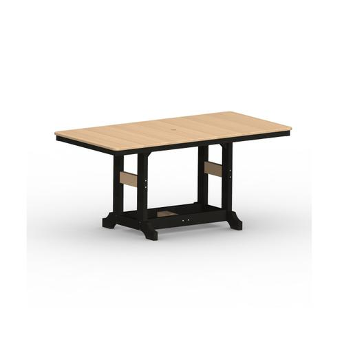 "Garden Classic 33"" x 66"" Rectangular Table - Bar"