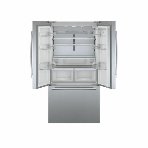 800 Series French Door Bottom Mount Refrigerator 36'' Easy clean stainless steel B36CT80SNS