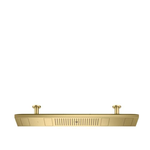 Brushed Brass ShowerHeaven 1200/300 4jet with lighting 2700 K