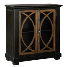 2-8027 Two Door Circle Lattice Entertainment Center