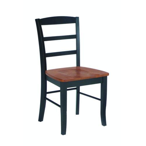 Madrid Chair in Black & Cherry