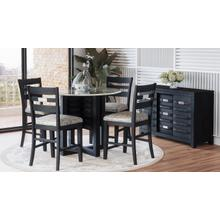 Altamonte Round Counter Table - Dark Charcoal
