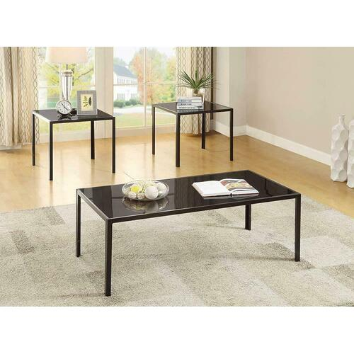 Contemporary Black Three-piece Set