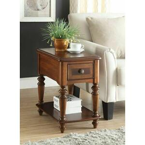 Acme Furniture Inc - ACME Faris Side Table - 80918 - Light Walnut