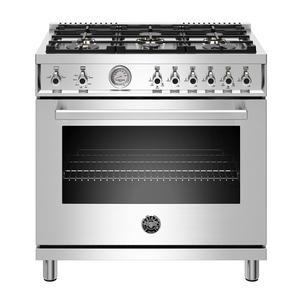 "Bertazzoni36"" Professional Series range - Gas oven - 6 brass burners - LP version"
