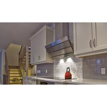 "36"" vertical wall hood stainless steel"