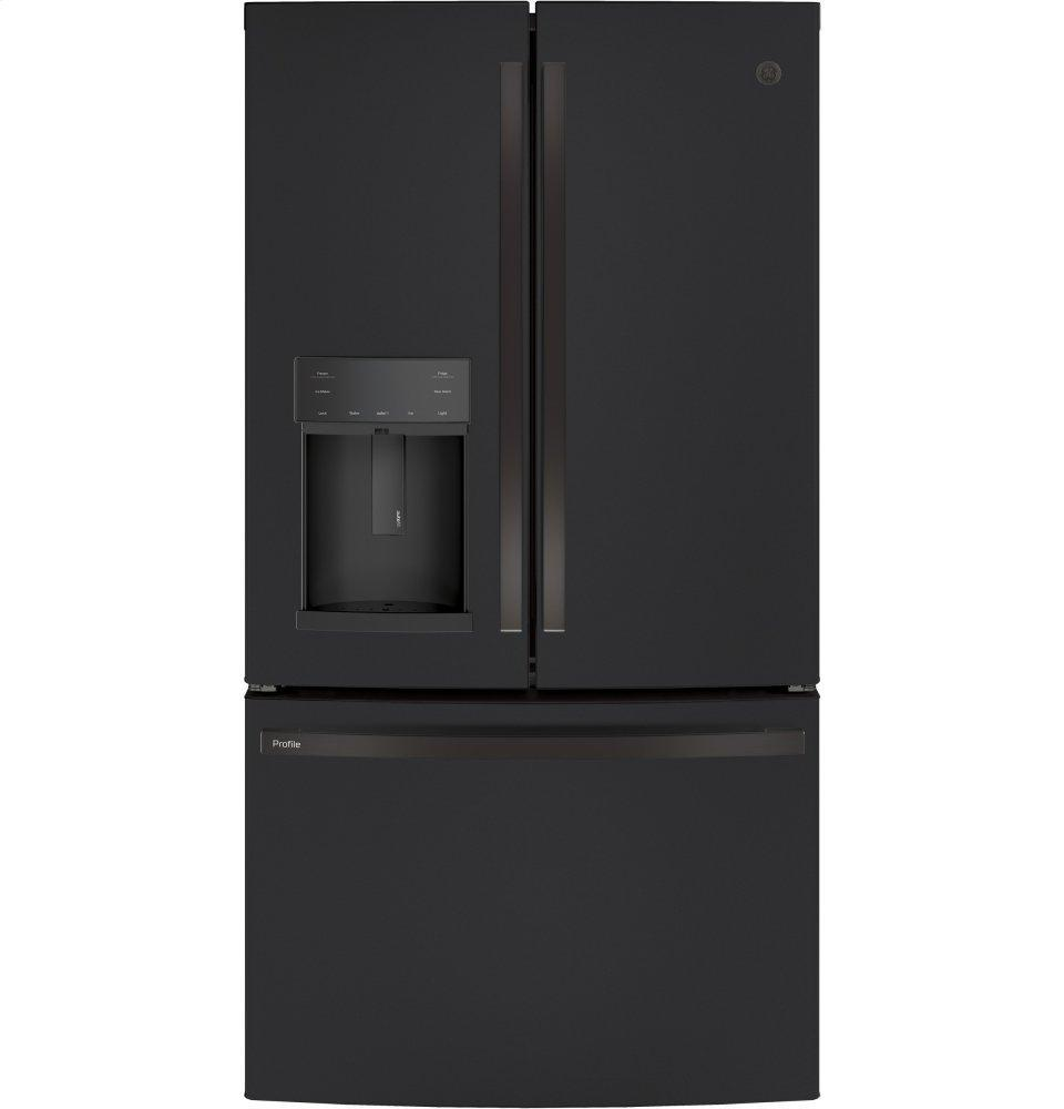 GE ProfileSeries Energy Star® 22.1 Cu. Ft. Counter-Depth French-Door Refrigerator With Hands-Free Autofill
