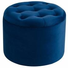See Details - Talia Round Storage Ottoman in Blue