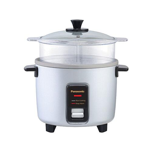 5 Cup (uncooked) Automatic Rice Cooker and Vegetable Steamer - Silver - SR-W10FGEL