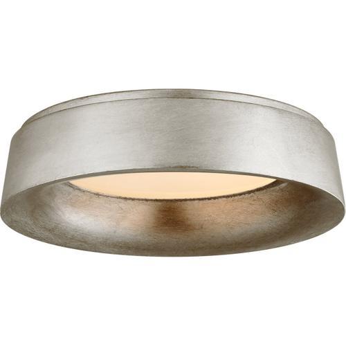 Visual Comfort - Barbara Barry Halo LED 18 inch Burnished Silver Leaf Flush Mount Ceiling Light