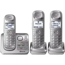 View Product - Link2Cell Bluetooth® Cordless Phone with Comfort Shoulder Grip and Answering Machine- 3 Handsets