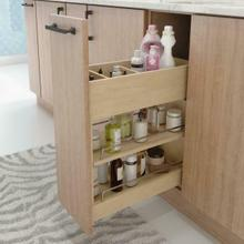 """See Details - """"No Wiggle"""" 8"""" Soft-close Vanity Cabinet Pullout"""