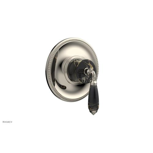 Phylrich - VALENCIA - Thermostatic Shower Trim, Black Marble Lever Handle TH338C - Polished Nickel