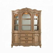 ACME Teagan Hutch & Buffet - 63094 - Traditional - Wood (Poplar), Wood Veneer (Pine), Poly-Resin Moldings, MDF - Oak