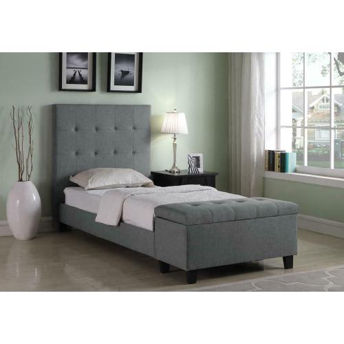 Halpert Transitional Light Grey Twin Bed