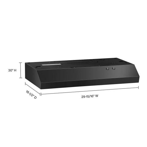 """Gallery - 30"""" Range Hood with Full-Width Grease Filters"""