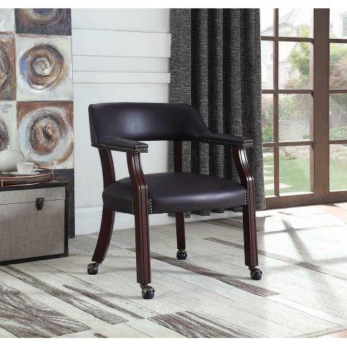 Modern Burgundy Office Chair