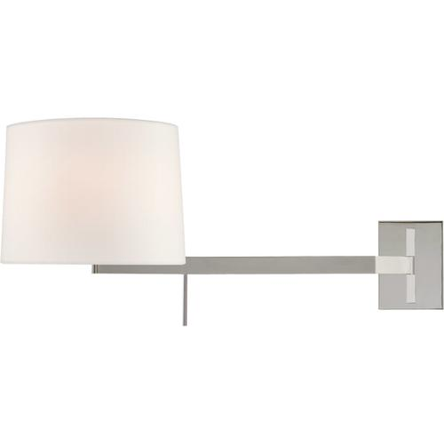 Barbara Barry Sweep 1 Light 12 inch Polished Nickel Articulating Wall Sconce Wall Light, Medium Right