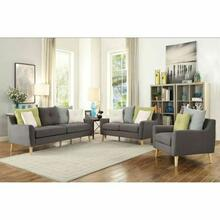 ACME Amie Loveseat w/4 Pillows - 53331 - Gray Fabric