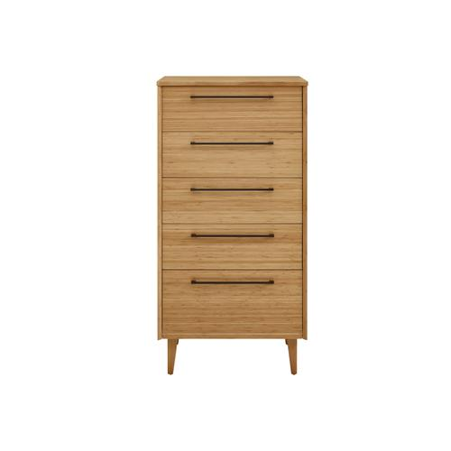 Sienna Five Drawer Chest, Caramelized
