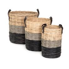 Ember Striped Baskets (set of 3)