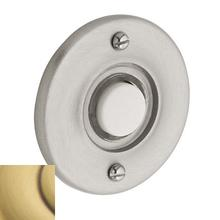 View Product - Satin Brass and Brown Round Bell Button