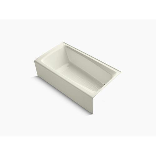 "Biscuit 60"" X 32"" Alcove Bath With Integral Apron and Right-hand Drain"