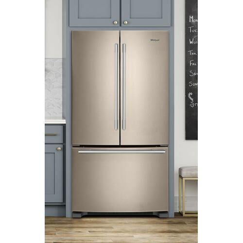33-inch Wide French Door Refrigerator - 22 cu. ft. Fingerprint Resistant Sunset Bronze