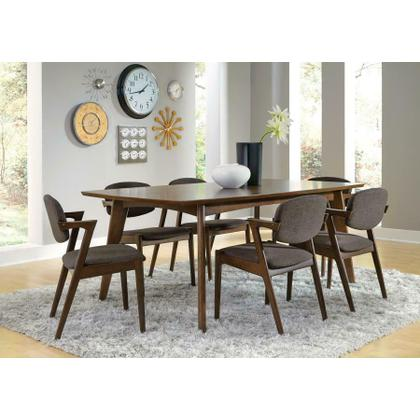 See Details - Malone Mid-century Modern Square Five-piece Dining Set