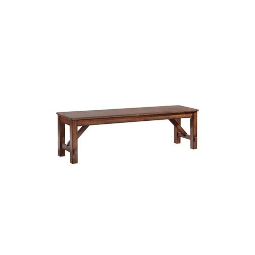 Winslow Cherry Finish Casual Dining Bench
