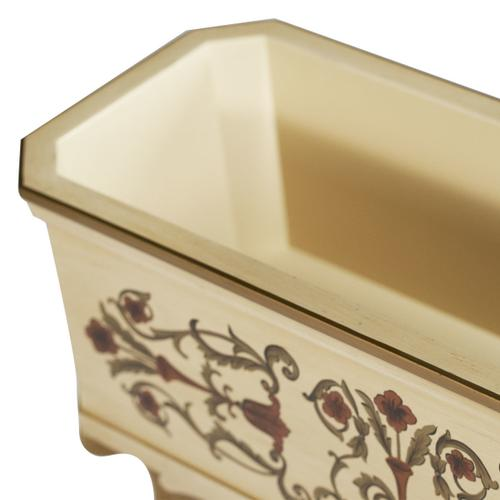 Accent Table, White Planter