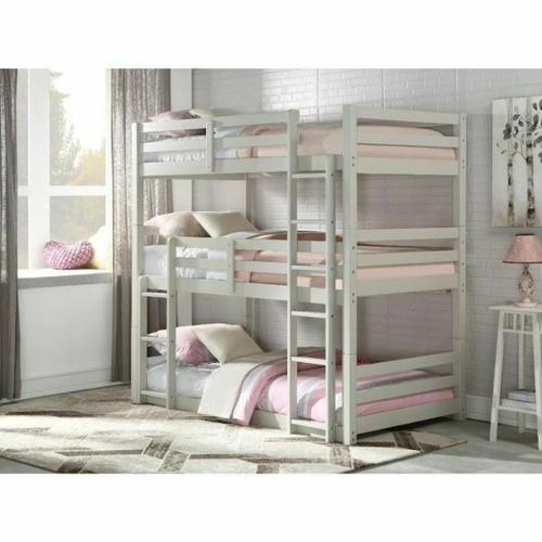 ACME Ronnie Bunk Bed - Triple Twin - 37420 - Light Gray
