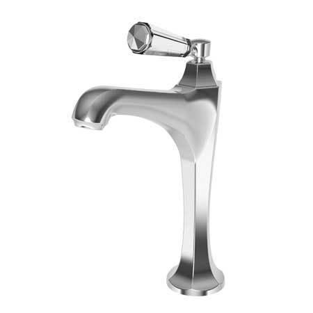 White Single Hole Vessel Faucet