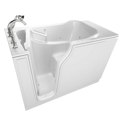Value Series 30x52-inch Walk-in Tub with Combo Air Spa and Whirlpool System  American Standard - White