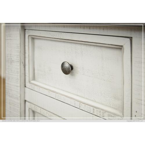2 Drawer, 1 Glass Door Kitchen Island - Stone finish