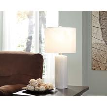 See Details - Ceramic Table Lamp - Steuben White