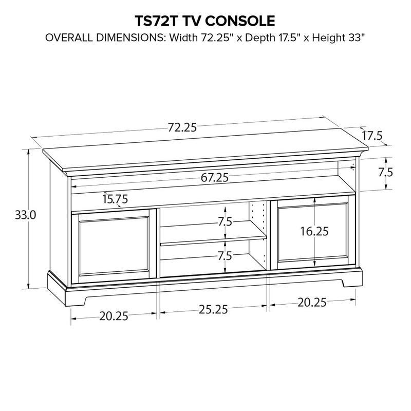 Howard Miller Custom TV Console TS72T