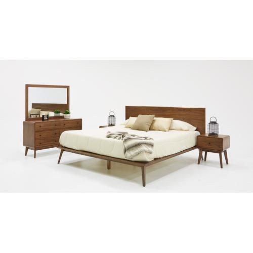 VIG Furniture - Modrest Carmen Mid-Century Modern Walnut Bed