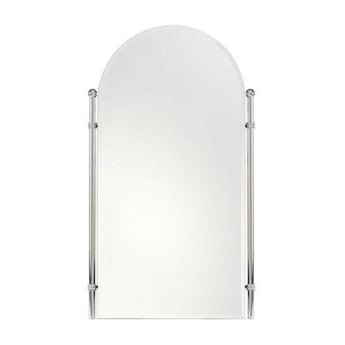 "Satin Nickel 26"" x 38"" Large Framed Mirror"