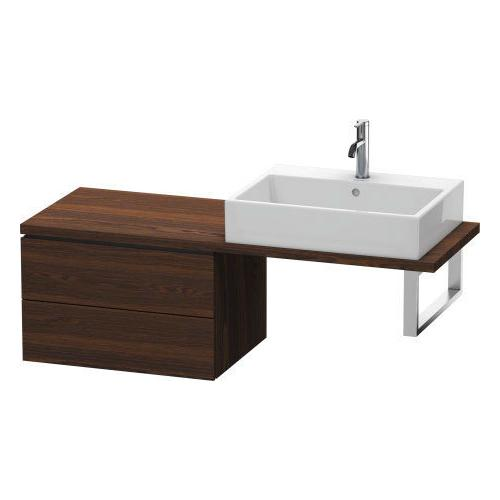 Duravit - Low Cabinet For Console Compact, Brushed Walnut (real Wood Veneer)