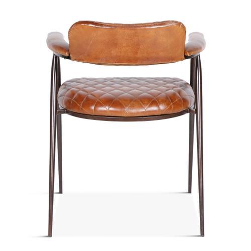 Celeste Arm Chair with Diamond Leather
