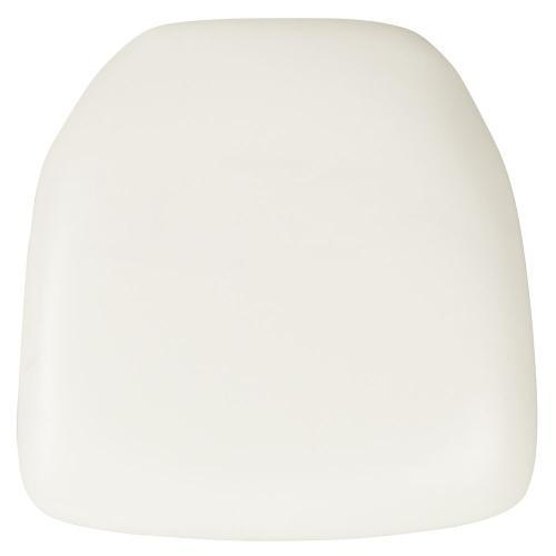 Hard White Vinyl Chiavari Chair Cushion