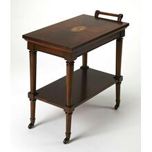 This traditional server cart can be used in any room, use it in the living room for drinks before dinner, use the top to set out trays of tasty tapas, while the bottom stages several pairings of your favorite vintage, or in the kitchen as coffee bar for your guests, crafted from rubberwood, MDF, and Cherry veneer, it will be in your family for years to come.