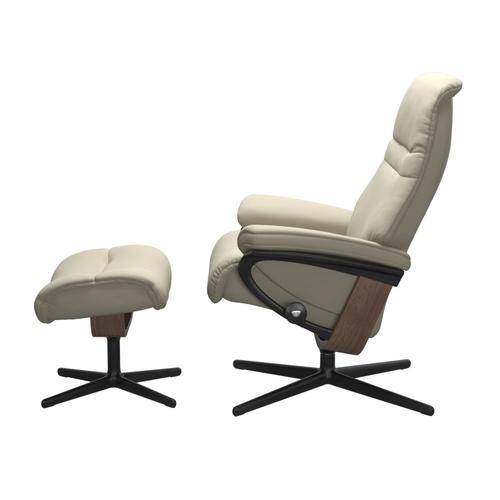 Stressless By Ekornes - Stressless® Sunrise (M) Cross Chair with Ottoman