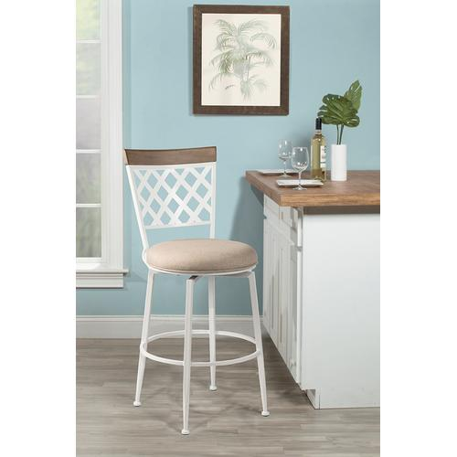 Greenfield Commercial Swivel Bar Height Stool, White