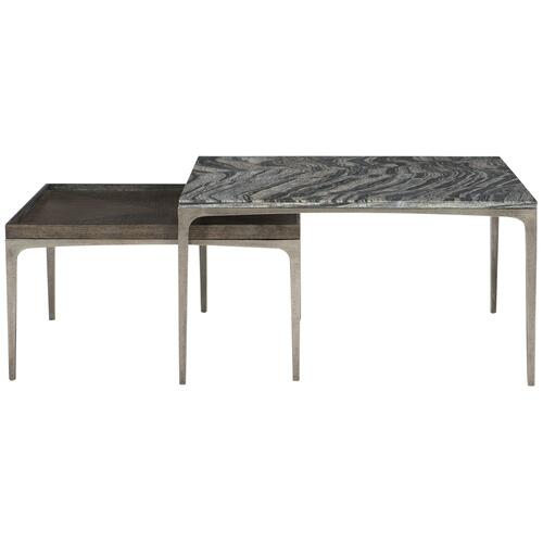 Strata Marble Cocktail Table in Black Forest Marble (384)