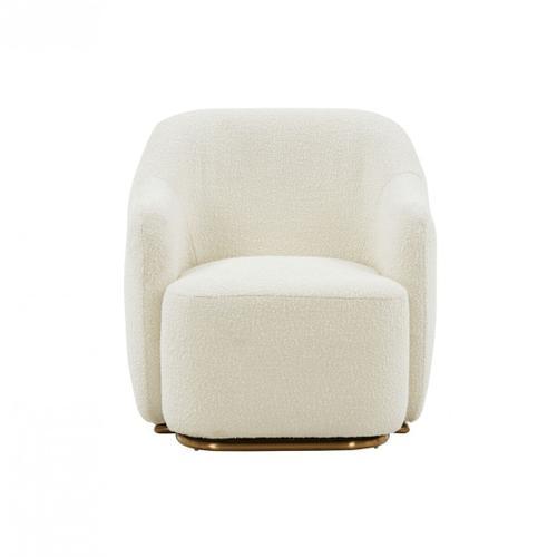 Gallery - Modrest Masha Modern Off White Sherpa Accent Chair
